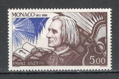 Monaco.1986 175 ani nastere F.Liszt-compozitor si pianist  MM.827