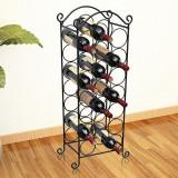 Cumpara ieftin vidaXL Suport sticle de vin pentru 21 de sticle, metal
