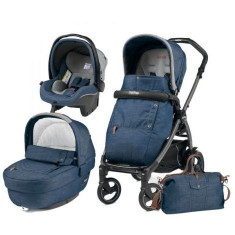 Carucior 3 In 1, Peg Perego, Book Plus 51, Black, Completo Elite Urban Denim