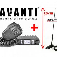 Pachet Statie Radio CB Avanti Micro 8w + Antena Megawat MW47