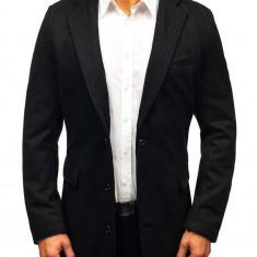 Palton pentru bărbat negru Bolf NZ01