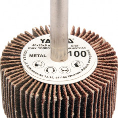 Perie abraziva circular cu tija 60x30x6 mm granulatie 80 YATO