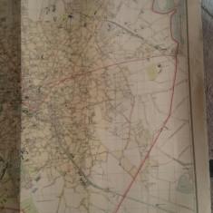 Bucuresti harta 107 x 94 cm