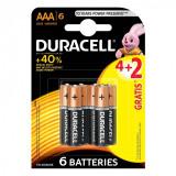Set 6 baterii Duracell basic, tip AAA
