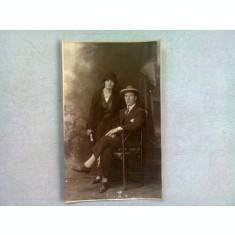 FOTOGRAFIE TIP CARTE POSTALA, UN CUPLU, 1925