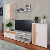 Mobilier de living, sufragerie,alb stejar artisan,200x35.3x170 cm, KEVIN