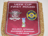 Fanion meci fotbal RAPID BUCURESTI-CD NACIONAL MADEIRA (UEFA CUP 14.0.2006)