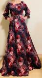 Cumpara ieftin Rochie Florala Trandafira 2