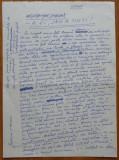 A fi sau a nu fi ! 3 pagini manuscris ale scriitorului banatean Petru Vintila