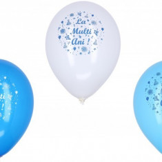 20 baloane colorate latex metalizate 30cm La Multi Ani Baietel
