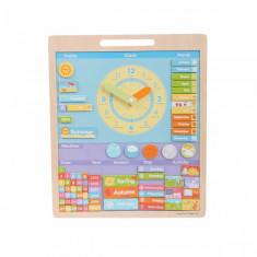 Vremea Calendar magnetic in limba engleza, 42 x 45 x 2 cm, 3 - 8 ani, Bigjigs