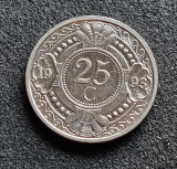 Antilele Olandeze 25 cent centi 1993, America Centrala si de Sud