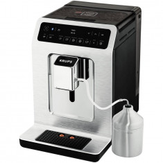 Espressor automat Krups Evidence EA893C10, 1450W, 15 bari, rezervor boabe 260g, rezervor apa 2.3L, functie aburi, detector calcar