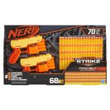 Set blastere Nerf Alpha Strike Fang QS4 cu 68 de munitii, Hasbro