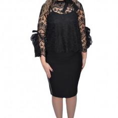 Bluza eleganta Corina din dantela cu maneci deosebite ,neagra
