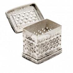 Caseta argintata dreptunghiulara Traforata Sheffield by Chinelli Cod Produs 1213