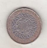 Bnk mnd Marea Britanie Anglia 2 lire 2000 bimetal, Europa