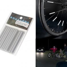 Set catadioptrii - tuburi reflectorizante pentru spite bicicleta 12 bucati