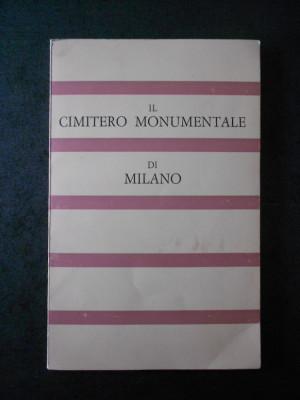 FRANCESCO SILVIO BORRI - IL CIMITERO MONUMENTALE DI MILANO (limba italiana) foto