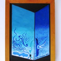 """Eugen CRACIUN (1922-2001)- """"Deschidere"""", ulei/carton- tablou-70x50 cm"""