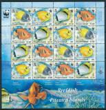 WWF-455=Pitcairn Islands-2010-bloc cu 4 seturi tema PESTI,timbre nestampilate