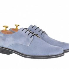 Pantofi barbati casual din piele naturala intoarsa - PA2GRI