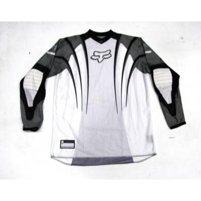 Tricou Motocross Fox Stafer culoare alb/crem marime M Cod Produs: MX_NEW 02162206004 foto