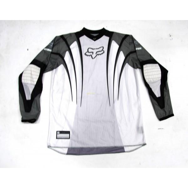 Tricou Motocross Fox Stafer culoare alb/crem marime M Cod Produs: MX_NEW 02162206004
