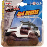 Masinuta Maisto Fresh Metal, 4X4 Rebels, 11 cm, 1:64, Jeep alb