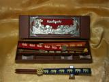 Set chopstiks deluxe Malaezia, colectie, cadou, vintage