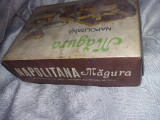 cutie/ambalaj vechi NAPOLITANA MAGURA,Marca inreg.BUCURESTI,T.GRATUIT