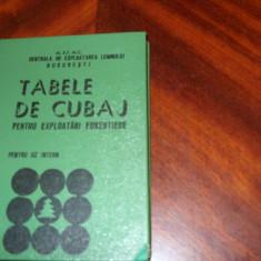 TABELE DE  CUBAJ  PENTRU  EXPLOATARI  FORESTIERE   ( rara, coperti cartonate ) *