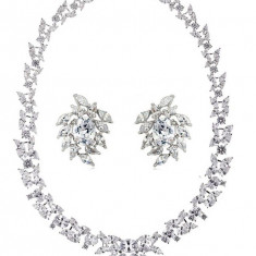 Set Cercei si Colier Luxury Bridal Borealy