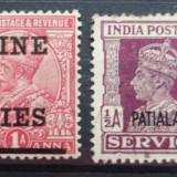Timbre din India, Nestampilat