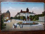 BUCURESTI - BULEVARDUL CAROL - STATUIA BRATIANU - INCEPUT DE 1900