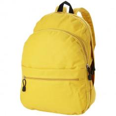 Rucsac confortabil, curele ajustabile, buzunar frontal, Everestus, TD, 600D poliester, galben, saculet si eticheta bagaj incluse