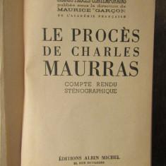 LE PROCES DE CHARLES MAURRAS