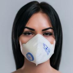 Masca protectie tip FFP2 cu filtru, Air Safety MASKFACE, alb, EN 149