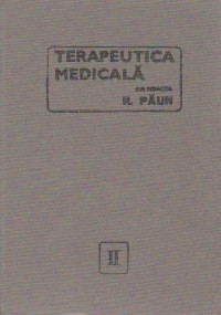 Terapeutica medicala, Volumul al II-lea