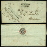 Italy 1838 Rare Stampless Cover + Content Vercelli Monsecco D.1078