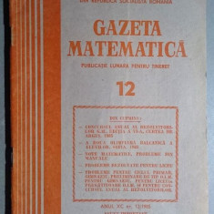Gazeta matematica  nr. 12 din 1985