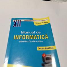 Carmen Popescu Manual de informatica clasa 12 Oracle--RF10/0
