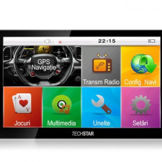 "GPS Auto/Camion Navigatie Techstar® 7"" cu Touchscreen Premium 8GB Windows CE 128 Ram"