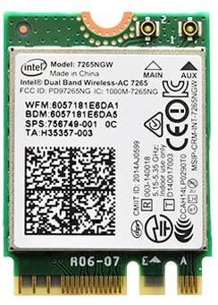 Modul Wireless Laptop Dual Band Intel-AC 7265 (7265NGW) 867Mbps 2.4/5Ghz foto