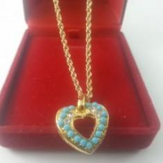 Colier Heart turcoaz