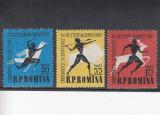 ROMANIA 1957  LP 439  CAMPIONATELE DE ATLETISM BUCURESTI SERIE  MNH