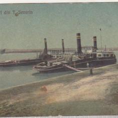 bnk cp Salutari din Turnu-Severin - Portul - uzata 1925
