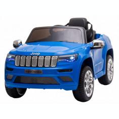 Masinuta electrica Premier Jeep Grand Cherokee, 12V, roti cauciuc EVA, scaun piele ecologica, albastru