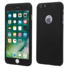 Husa Apple iPhone 6/6S Flippy Full Cover 360 Negru + Folie de protectie