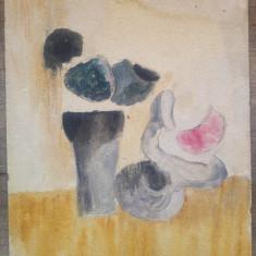 Natura statica// ulei pe carton, Ion Alin Gheorghiu, 2 lucrari fata/verso